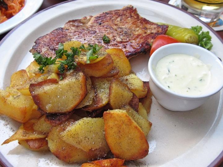 Turkey steak and potatoes, Nuremberg, Germany