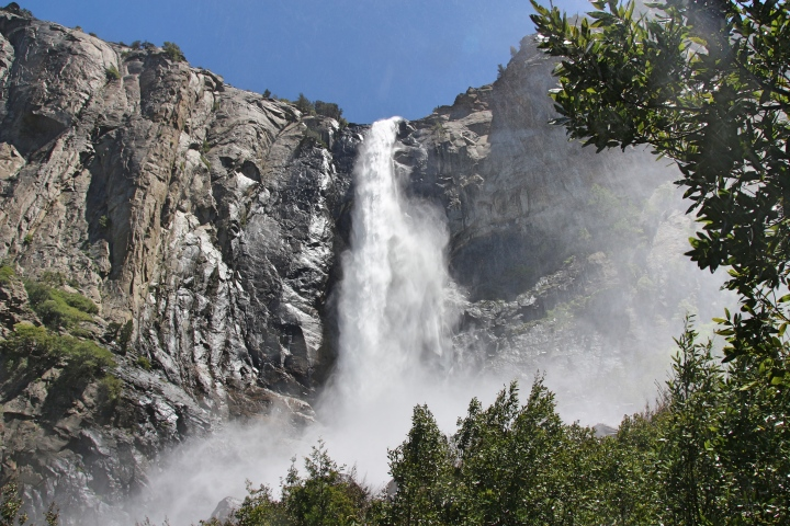 Big Waterfall at Yosemite, California, USA