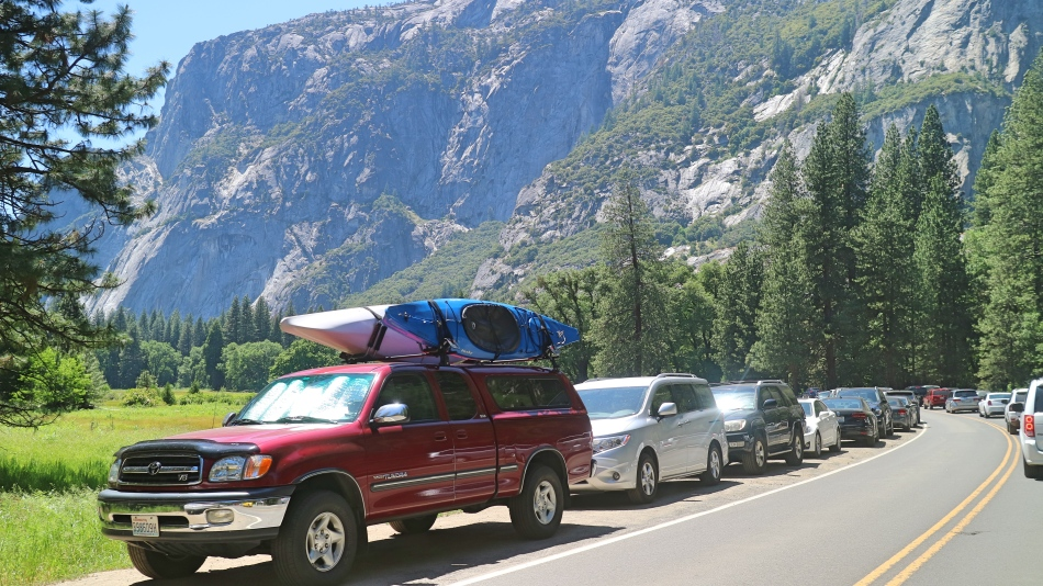 Cars in Yosemite, California, USA
