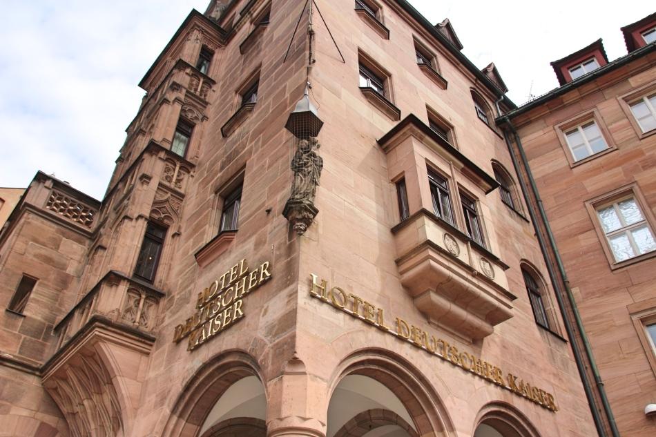 Close up Deuscher Kaiser Hotel, Nuremberg, Germany