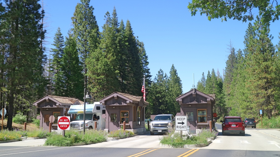 Entrance to Yosemite, California, USA