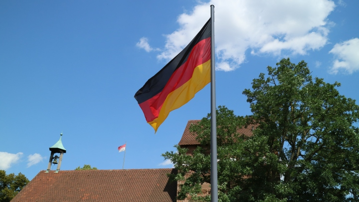 German Flag Nuremberg, Germany