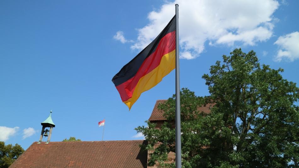 German Flag Nuremberg, Germany