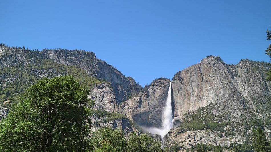 Waterfall at Yosemite, California, USA