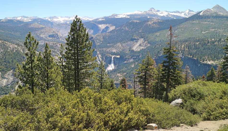 Waterfall from Glacier Point, Yosemite, California, USA