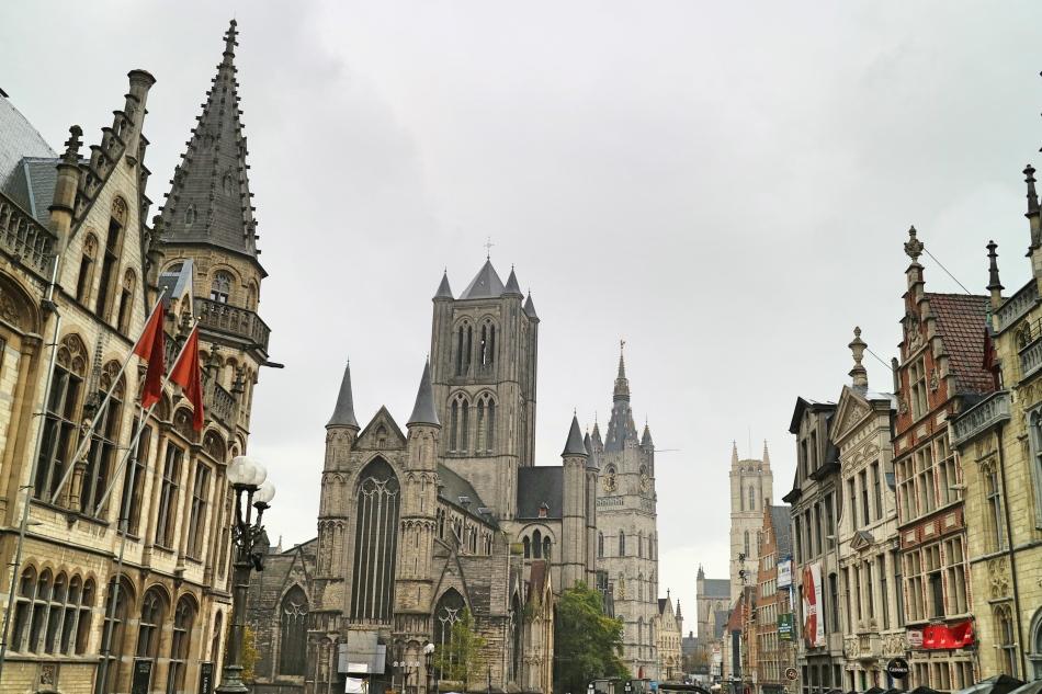 3 Spires of Ghent, Belgium