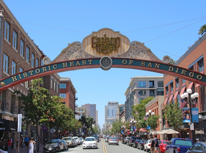 Gaslamp Quarter Sign, San Diego, California