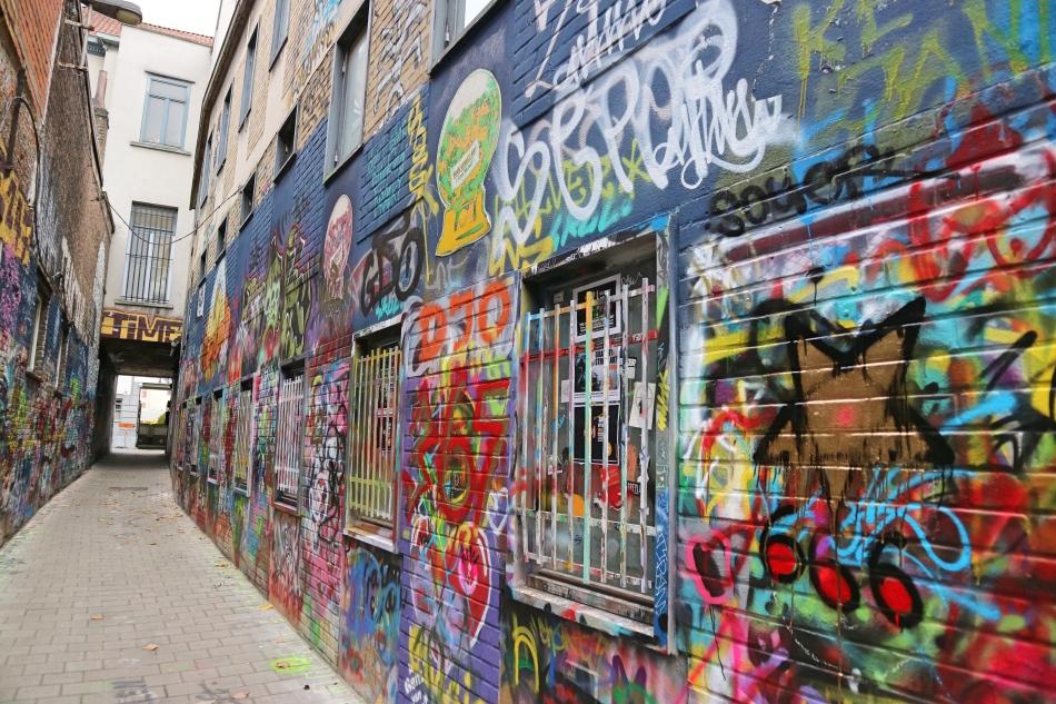 Graffiti Street, Ghent, Belgium