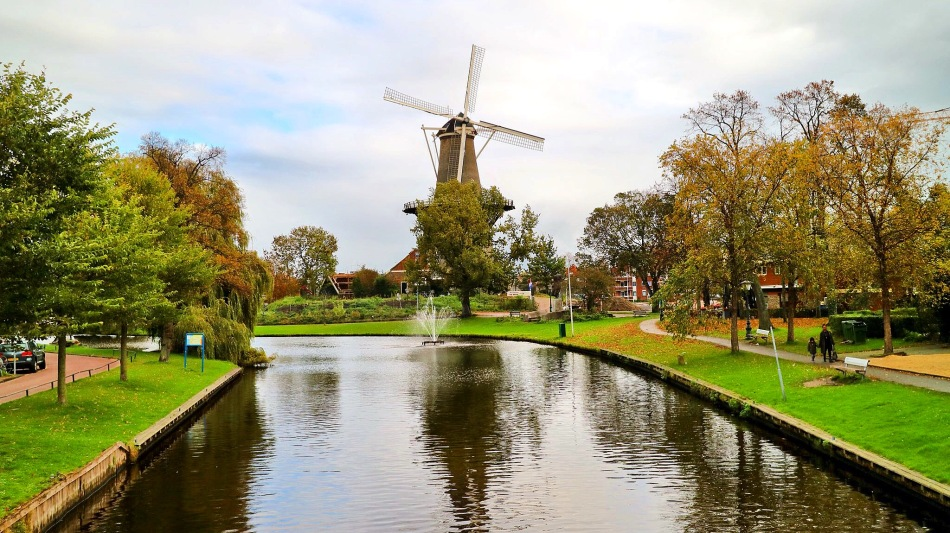 Leiden, The Netherlands Windmill