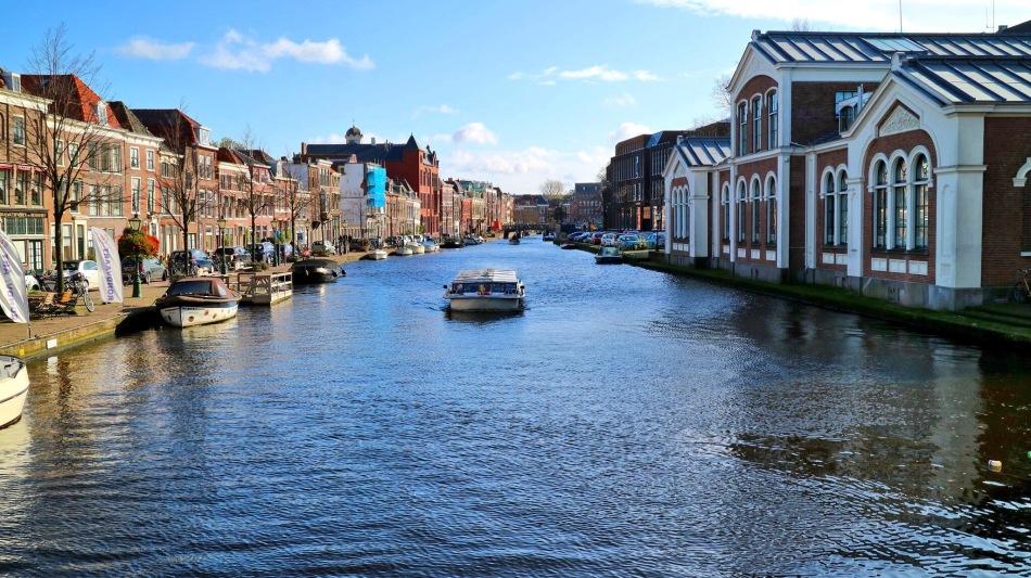 Leiden, The Netherlands Waterway