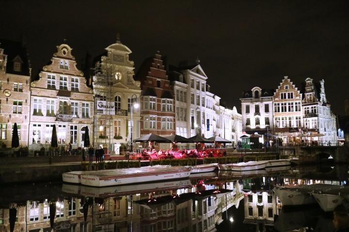Lights in Ghent, Belgium