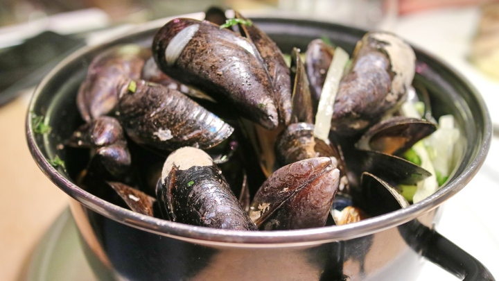 Mussels in Ghent, Belgium
