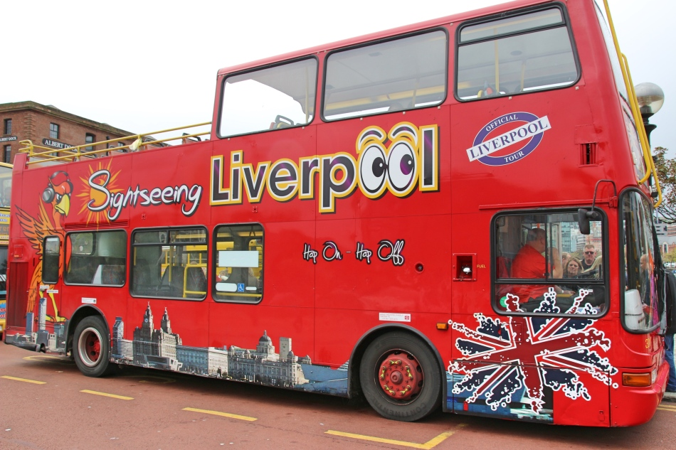 Sight seeing bus, Liverpool