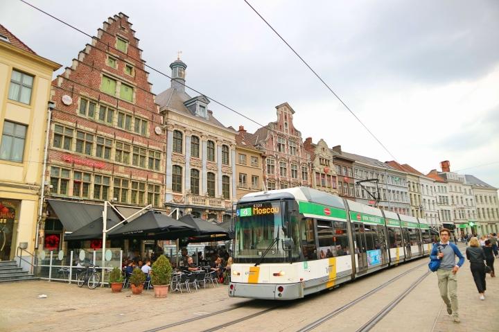 Tram in Ghent, Belgium