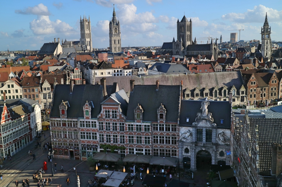 Views over Ghent, Belgium