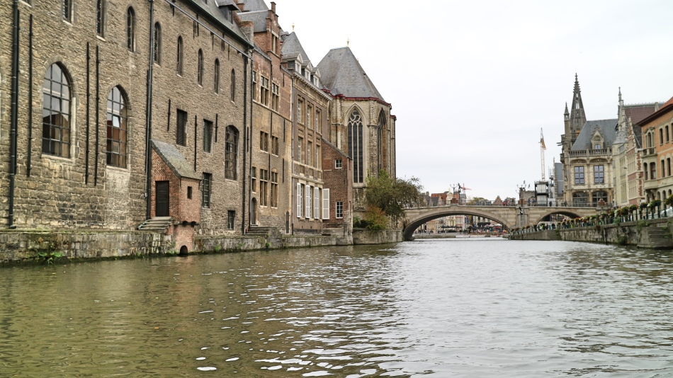Waterways in Ghent, Belgium