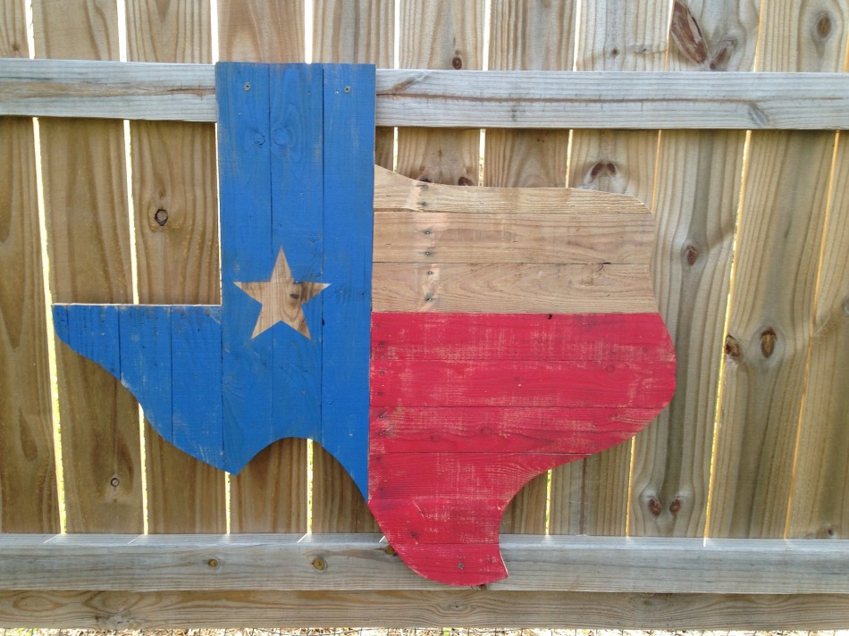 Wooden Texas Sign, America