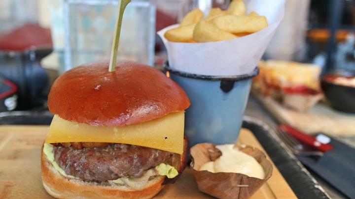 Burger at Waag, Leiden, The Netherlands