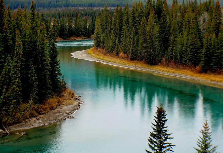 The Bow River, Alberta, Canada