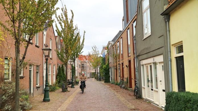 Street in Leiden, The Netherlands