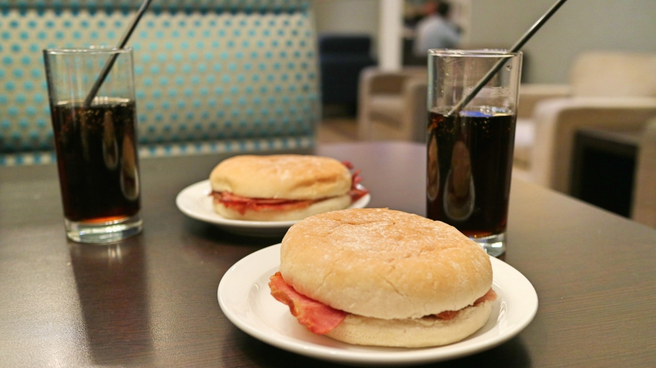 Bacon Butties Aspire Lounge Manchester Airport