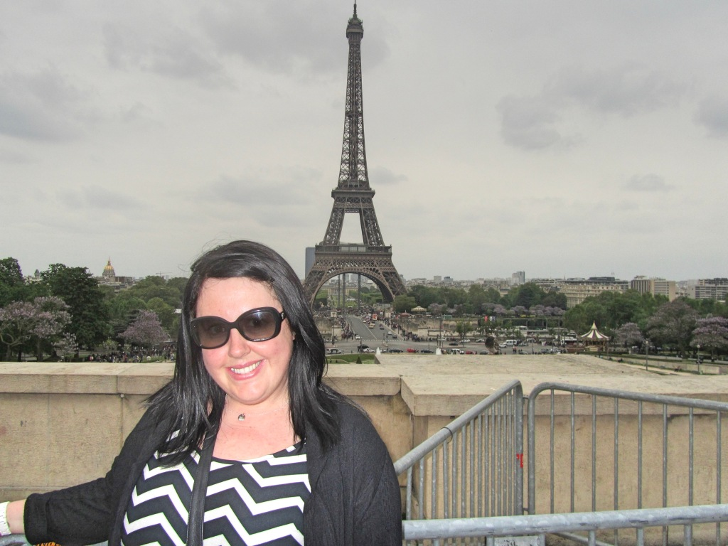 Vicky at the Eiffel Tower, Paris, France