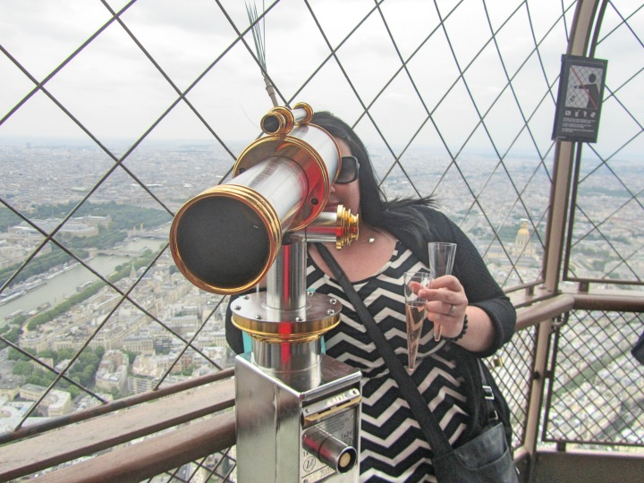 Champagne at the top, Eiffel Tower, Paris, France