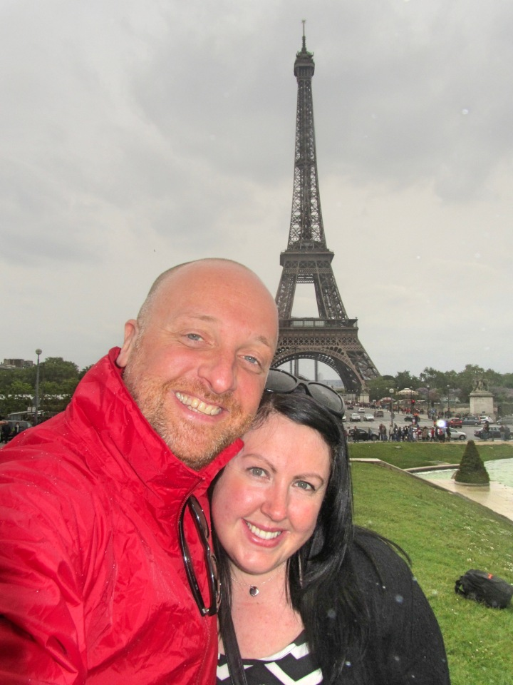 Vicky and Mr ESLT at The Eiffel Tower, Paris, France