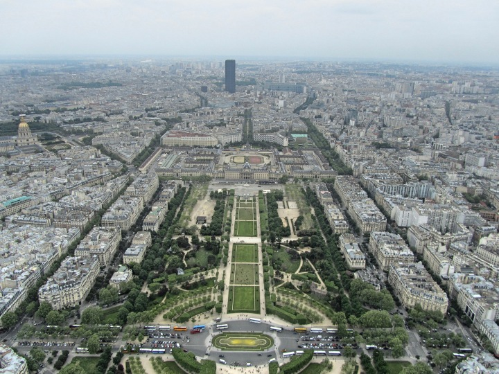View from the Eiffel Tower, Paris, France