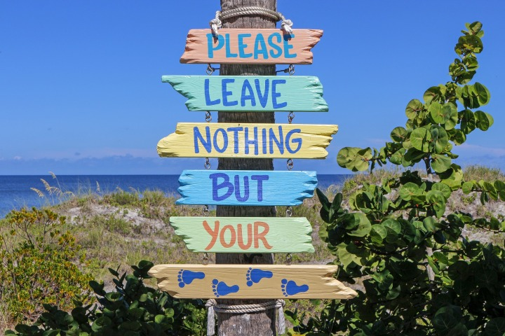 Florida Beach Sign - Beat The Holiday Blues