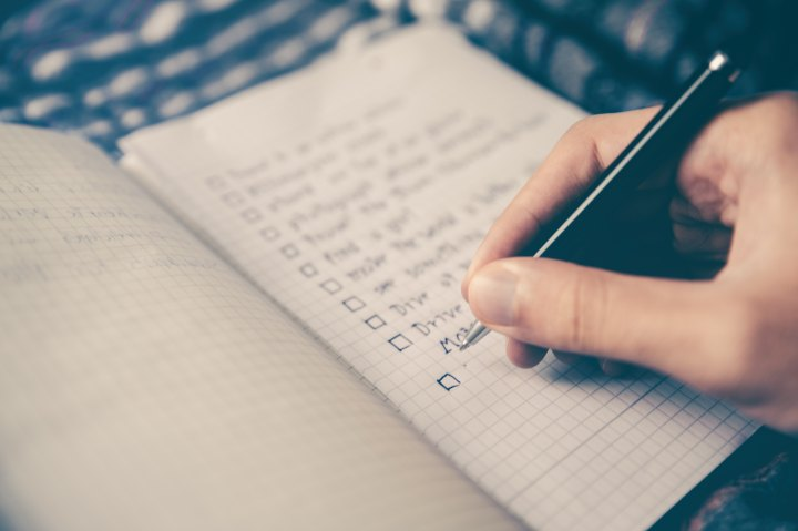 Make a list before you pack your case