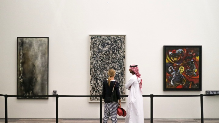 Pollocks at The Louvre Abu Dhabi, UAE
