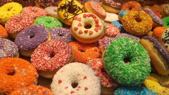 Donuts at Rotterdam Market Hall, The Netherlands
