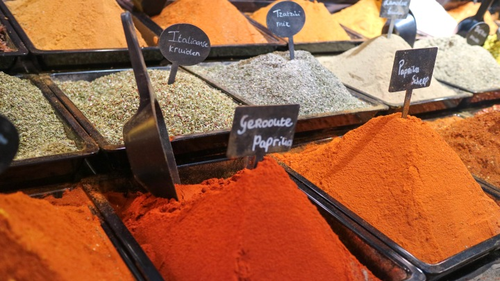 Spices at Rotterdam Market Hall, The Netherlands