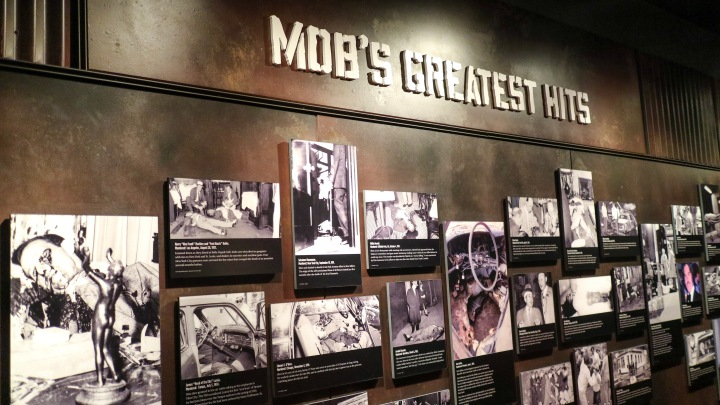 Mob Wall in The Mob Museum, Las Vegas, USA