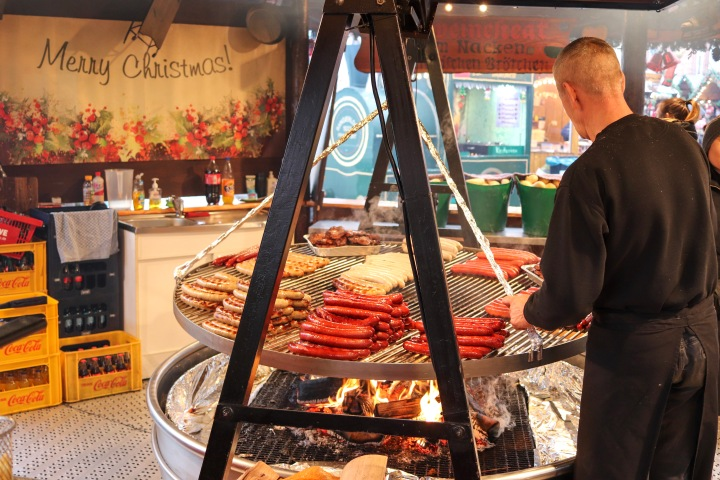 Sausages at Frankfurt Christmas Market