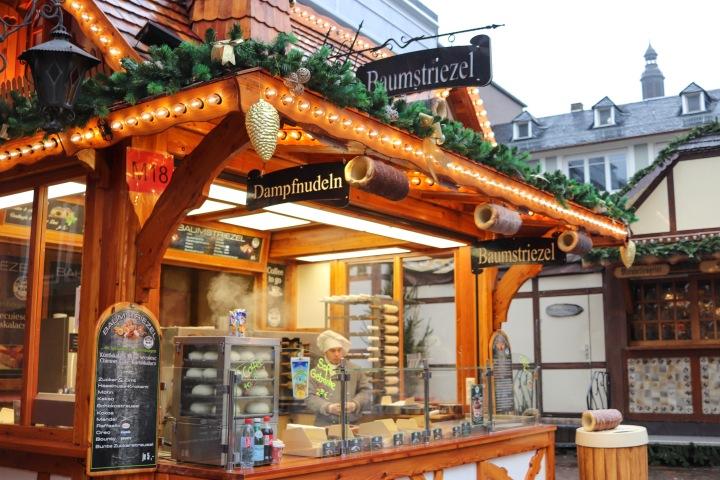 Stalls at Frankfurt Christmas Market