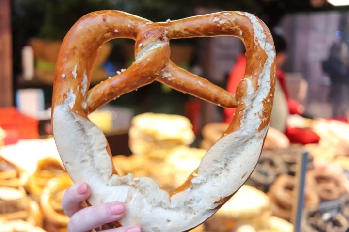 Pretzel at Frankfurt Christmas Market