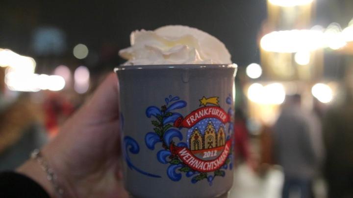 Hot Chocolate at Frankfurt Christmas Market