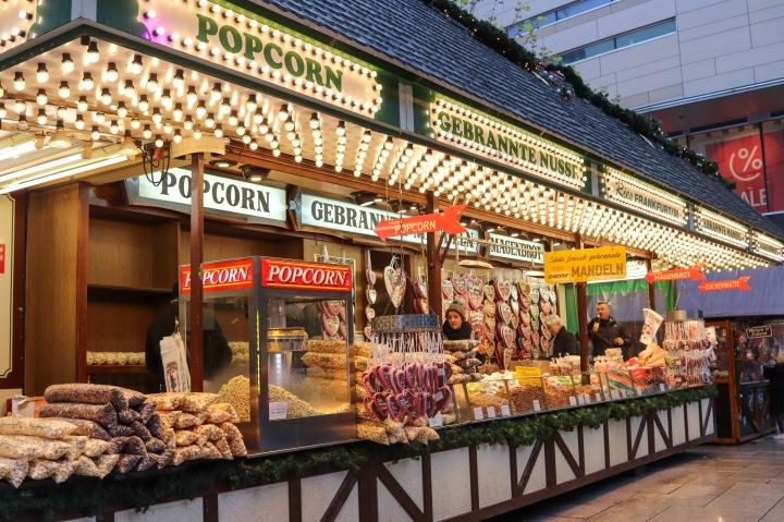 Food Stalls at Frankfurt Christmas Market