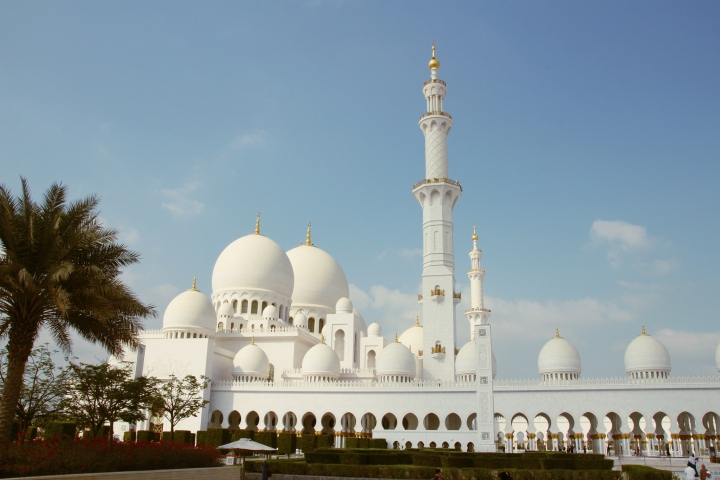 Outside Sheikh Zayed Mosque, Abu Dhabi