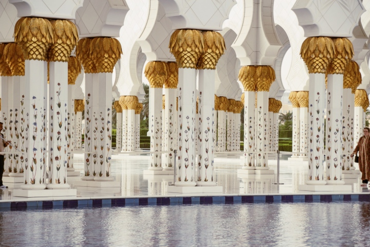 Columns at Sheikh Zayed Mosque, Abu Dhabi
