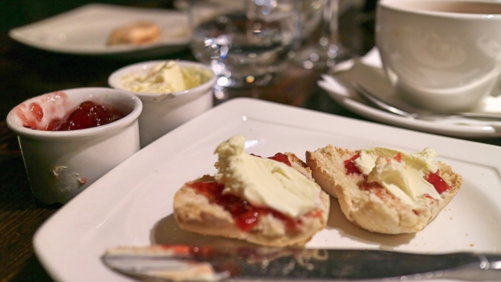 Scones at Browns Manchester Afternoon Tea