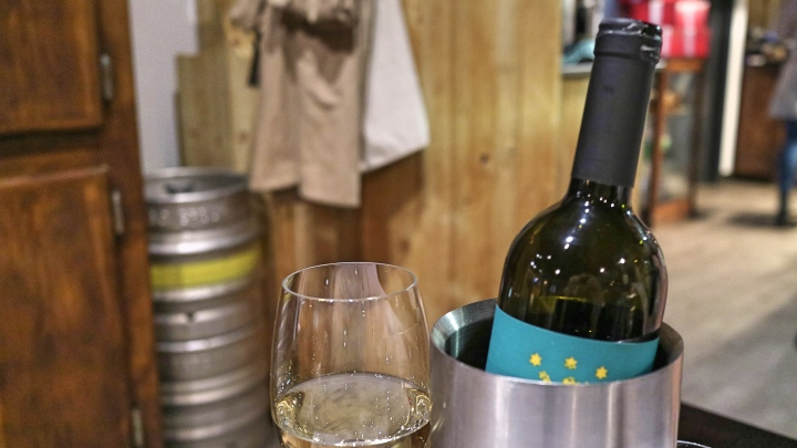 Wine at Salvi's Manchester Corn Exchange