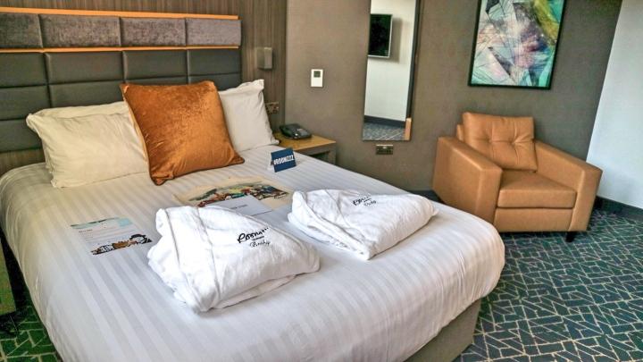 Bedroom at Roomzzz Manchester Corn Exchange