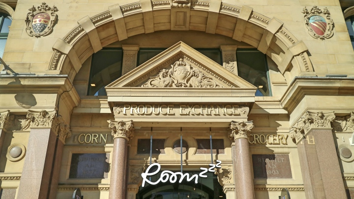 Roomzzz Entrance at Manchester Corn Exchange