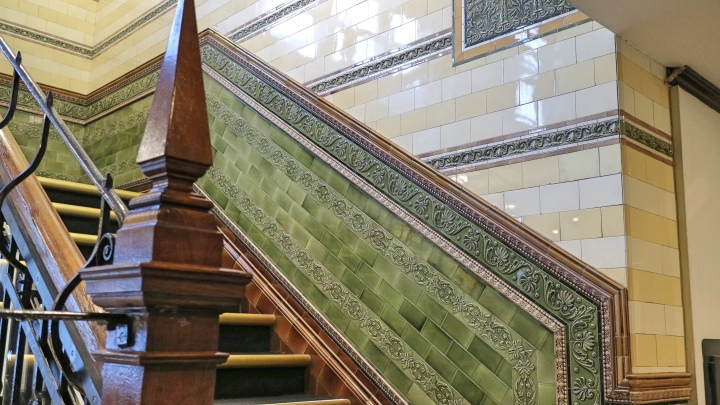 Staircase in Roomzzz Manchester Corn Exchange